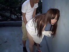 Best Japanese tart Megu Hazuki in Exotic doggy style, outdoor JAV video