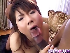 Masami Abe gets dick in multiracial pulverizing