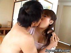 Horny japanese MILFS deep-throating and fucking