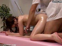 Japanese Girl Gets Body Massage Romp