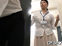 Sex-positive scene of real hard core fucking in the workplace
