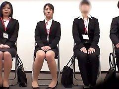 Astounding Japanese doll Minami Kashii, Sena Kojima, Riina Yoshimi in Best casting, office JAV scene