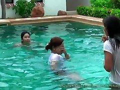 jaw-dropping thai girls in pool