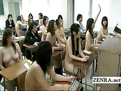 Bizarre Japan college with bare in college schoolgirls