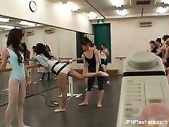 Dark haired Asian slut dancing ballet partFive