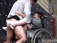 Horny Japanese nurse sucks penis in front of a voyeur
