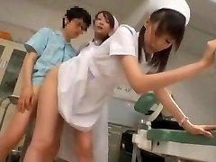 Exotic Chinese model Yuria Shima, Azusa Ito in Finest Nurse JAV scene