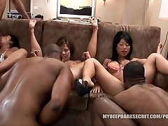 MDDS Tia Ling and Becky Bursts BBC Interracial Orgy