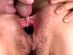 Insatiable asian girl sperm fill & slit gape