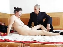 Jaw-dropping Chinese grandpa giving fucking