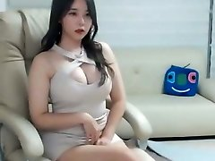 Sexy japanese girl in pink mini dress
