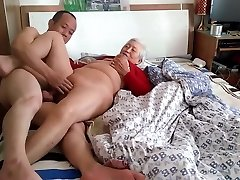 Amateur Asian Grannie With Younger