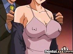 Hentai.xxx - Busty MILF'S First-ever Threesome