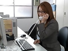 Japanese wonderful milf in the office