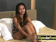 Point Of View sex with a petite Filipina babe with a ultra-kinky stranger and his big dick.