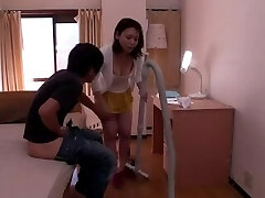 Japanese sonny fucks his mom all around the house