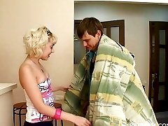 Pounding a hot blonde chick