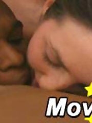 Interracial oral action in a some with two white teens