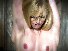 Hot ash-blonde in submission gets tortured and loves it