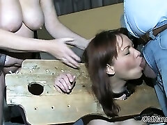 Astounding redhead is abused by two horny part6