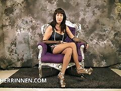 Jerk off for Mistress Herrin Carmen JOI for v-card slaves