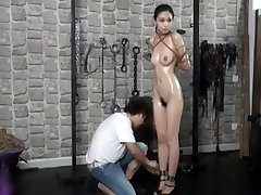Elegent chinese nude model Anke in BDSM
