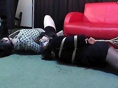 Widow and Mistress Restrain Bondage