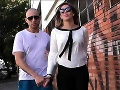 Transsexual stunner Kananda Hickman take turns fucking with stud