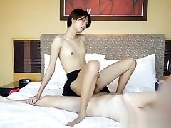 HELLOLADYBOY Thai School beauty nailed By gigantic pipe Stranger