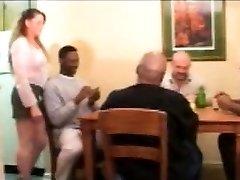 Vintage multiracial sex with blonde milf