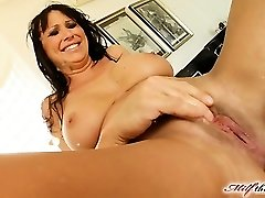Mandy lose some weight and is looking very hot. She makes her way to MILFThing in a black obession dress. This video is historic from crazy fisting to double vaginal  squirting and more