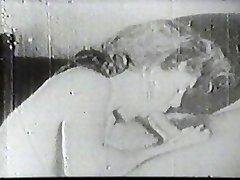 Scorching slut sucking vintage cock