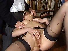 ITALIAN Porno anal hairy babes threesome antique