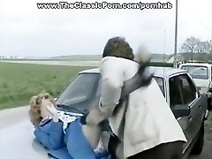 Accident video of hard outdoor romp