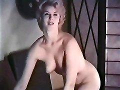 PERHAPS - vintage blonde striptease pantyhose gloves