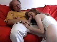 Very tender, erotic Daddy poleplay