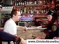 Nasty femdom police hotties