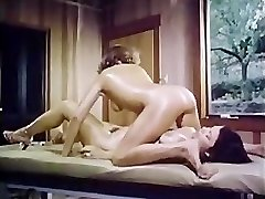 Oily retro lady-girl massage