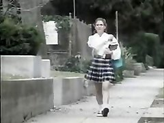 Shy youthful damsel gets pounded by nasty dude on her way to school