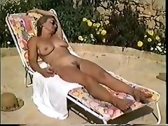 Yvonne bare in the pool