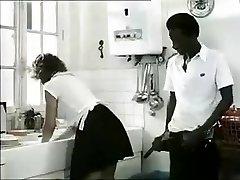 Exotic fledgling Retro, Interracial porn clip