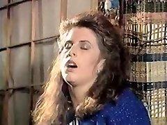 Girl in doorway caresses gash 80's