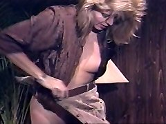 Lingerie whore in Strap-on act