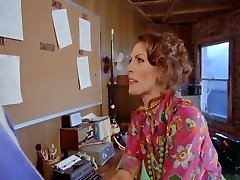 vintage furry office. Kay Parker