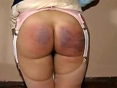 Great nubile spanking in a vintage movie