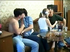 Two couples in old on young swinger pornography