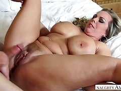 Mega busty stepmom Amber Lynn Bach is boinked by ultra-kinky 19 yo stepson