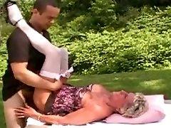 Grandma gets youthful cock