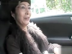 Hot Asian granny suck man meat and nail