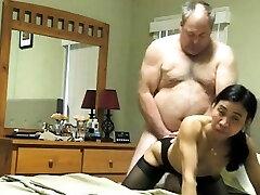Asian first-timer professional mature blowjob porn